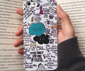 book, iphone, and the fault in our stars image