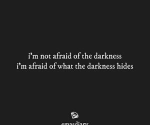 Darkness, black and white, and quotes image