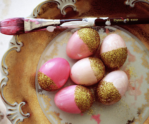 eggs, pink, and easter image