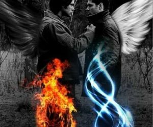 supernatural, angel, and dean winchester image