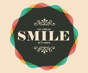 smile, quote, and free image