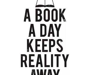 book, reality, and away image