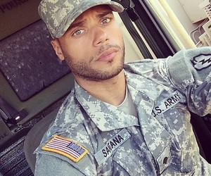 Hot, army, and eyes image