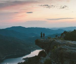 nature, sky, and couple image