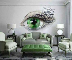 green, eye, and room image