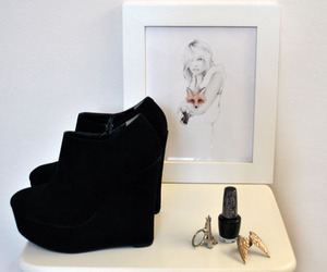 eiffel tower, ring, and shoes image