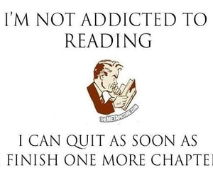 book, reading, and addicted image