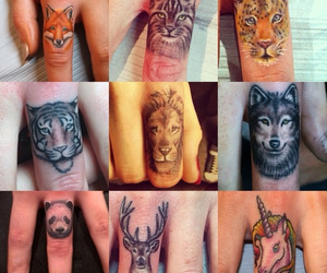 tattoo, animal, and finger image