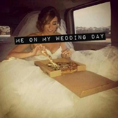 bride, pizza, and cool image