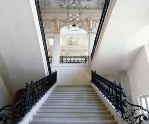 stairs, architecture, and house image