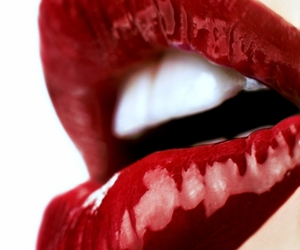 lips, mouth, and red image