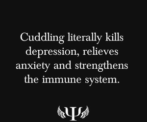 quote, cuddling, and life image