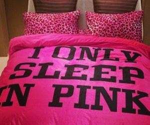 girl, pink, and sleep image