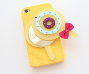 lollipop, yellow, and phone case image