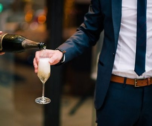 champagne, fashion, and man image