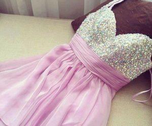 dress, glitter, and purple image