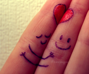 care, love, and fingers image