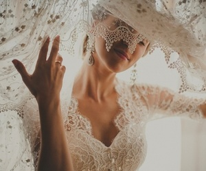 bride, girl, and wedding dress image