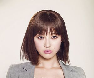 bangs, pink lips, and kim ji won image