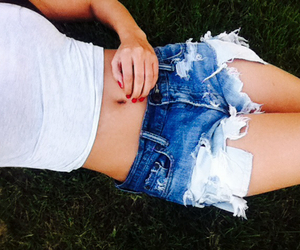 belly button, grass, and mine image