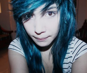 blue, hair, and photo image