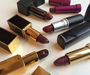 lipstick, makeup, and chanel image