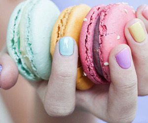macaroons, nails, and sweet image
