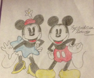 cartoon, drawing, and mickey mouse image