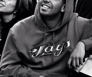 Drake, smile, and black and white image
