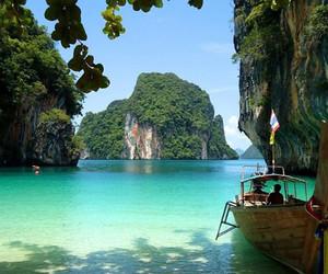 beach, sea, and paradise image
