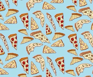 background, blue, and pizza image