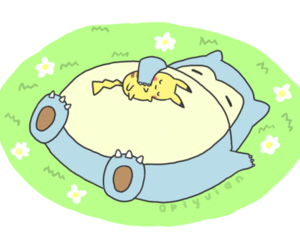 pikachu, snorlax, and pokemon image