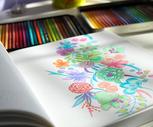 drawing, colors, and art image