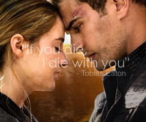 first love, four, and divergent image