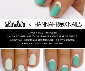 cool, teal, and diy nails image