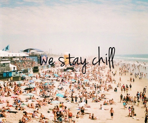 beach, summer, and chill image