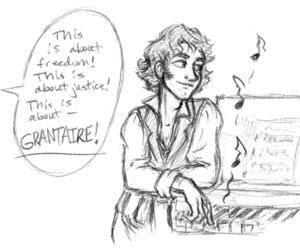 fanart, grantaire, and funny image