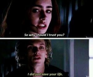 jace, the mortal instruments, and lily collins image