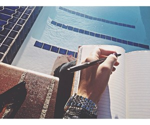 pool, summer, and notebook image