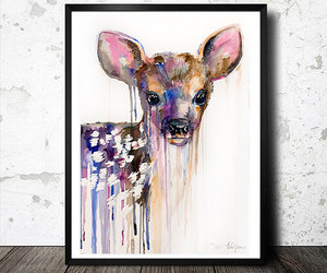 animal, animal art, and deer image