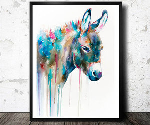 animal, donkey, and animal illustration image