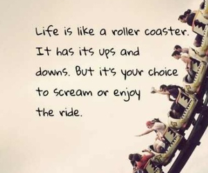have fun, Roller Coaster, and you only live once image