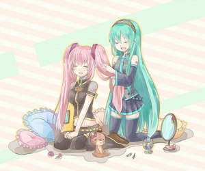 miku, vocaloid, and hatsune image