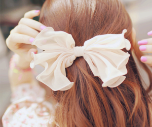 bow, cute, and kfashion image