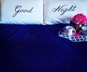 love, flowers, and good night image