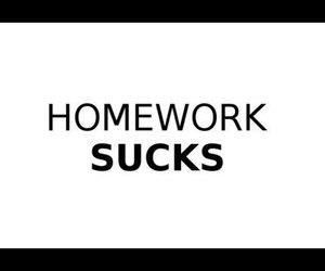 homework and sucks image