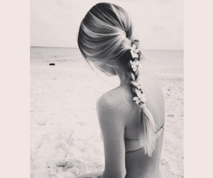 beach, braid, and dreamy image