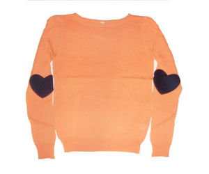 elbow patch sweater and heart elbow patch image