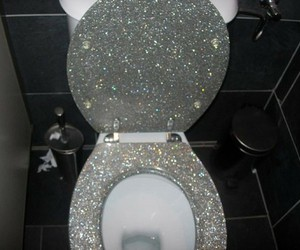 awesome, toilet, and glam image