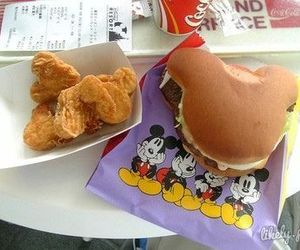 <3, mickey mouse, and eat image